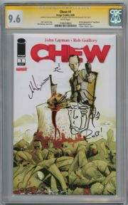 Chew #1 First Print CGC 9.6 Signature Series Signed John Layman & Rob Guillory Sketch Image comic book